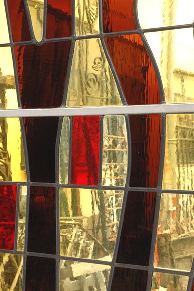 1950's stained glass window-2