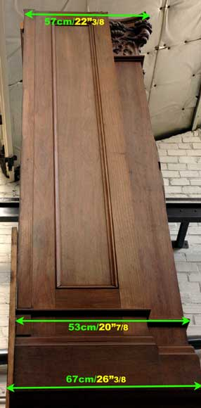Mahogany fireplace mantel and trumeau-11