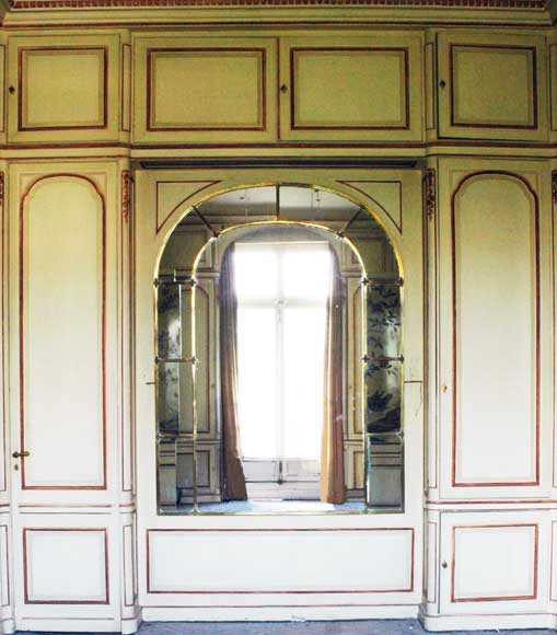 Paneled room with Coromandel lacquer panels-14