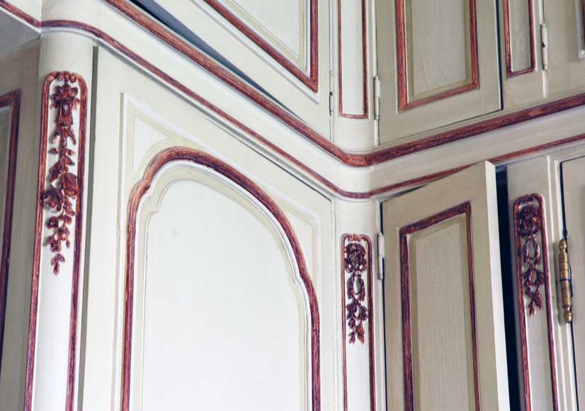 Paneled room with Coromandel lacquer panels-16