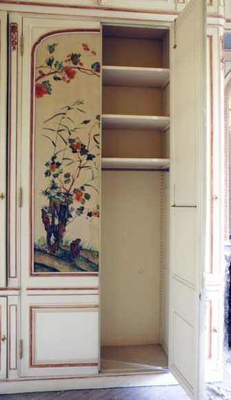 Paneled room with Coromandel lacquer panels-21