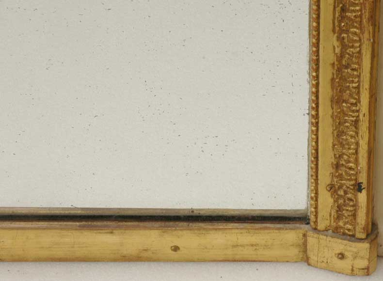19th century trumeau mirror with 18th century putti painting-8