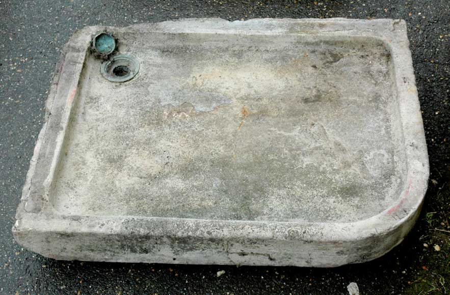 Stone sink with rounded corner - Reference 9566