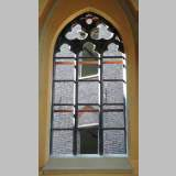 Neo-gothic stone window frame from Soignies