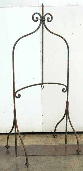 19th century iron water well head-0