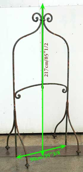 19th century iron water well head-3