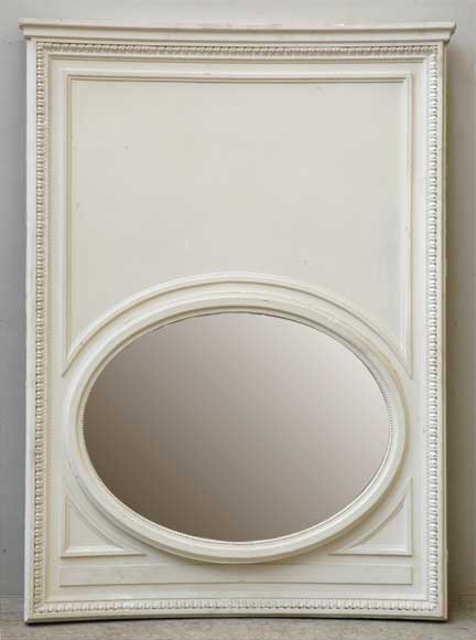 Curved Trumeau with oval shaped mirror-0