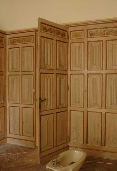 Oak Paneled Room: Oak Paneled Room Decorated With Linenfold And Rinceau