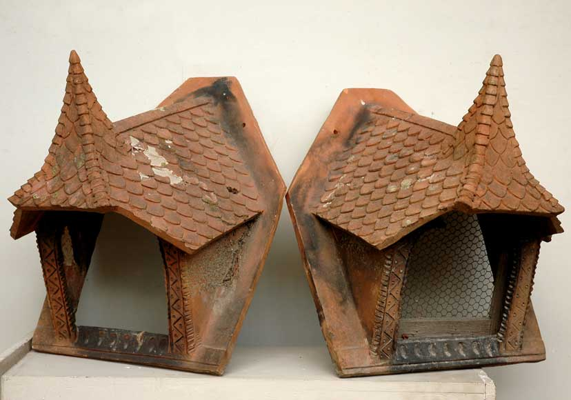 Antique terracotta roof decorations - Reference 9642