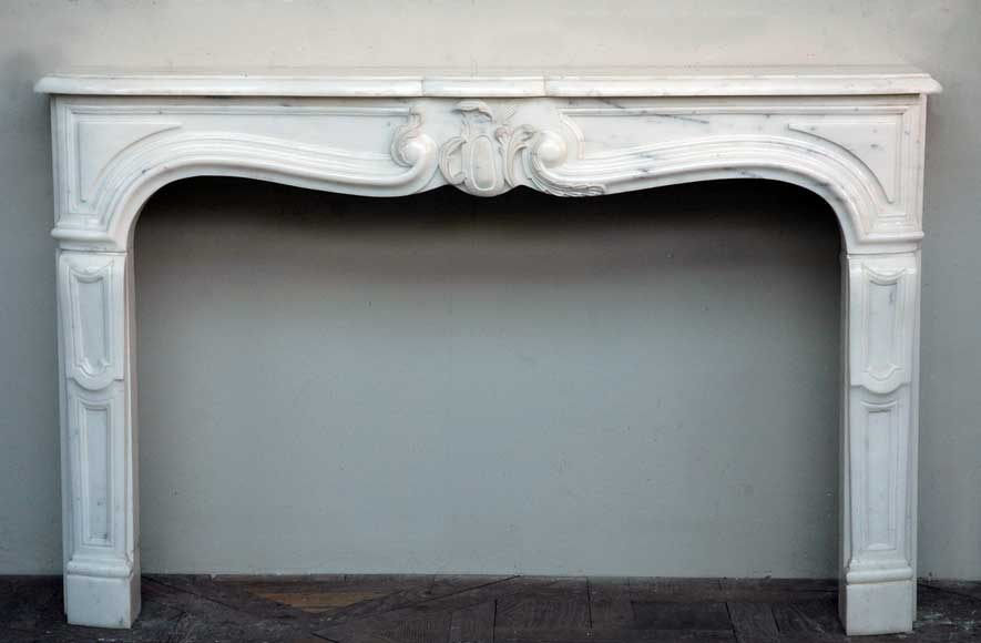Semi-statuary marble mantel made in 1960-0