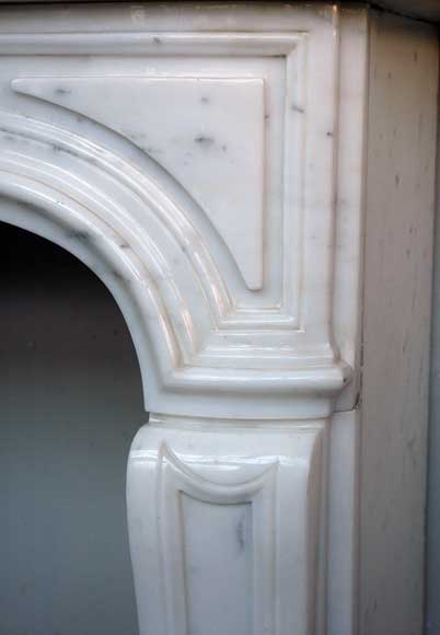 Semi-statuary marble mantel made in 1960-2