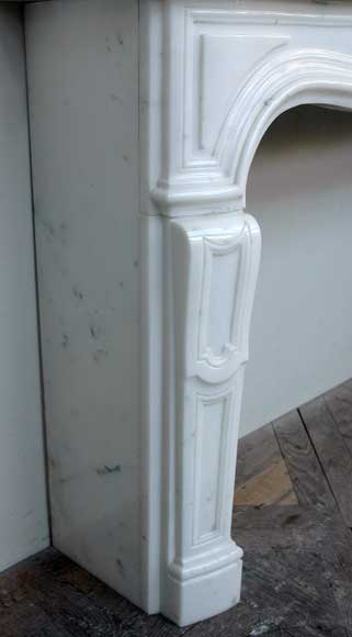 Semi-statuary marble mantel made in 1960-4