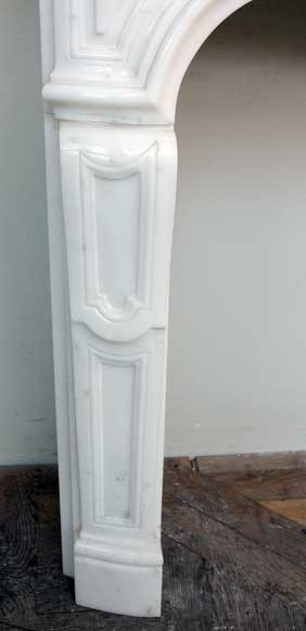 Semi-statuary marble mantel made in 1960-5