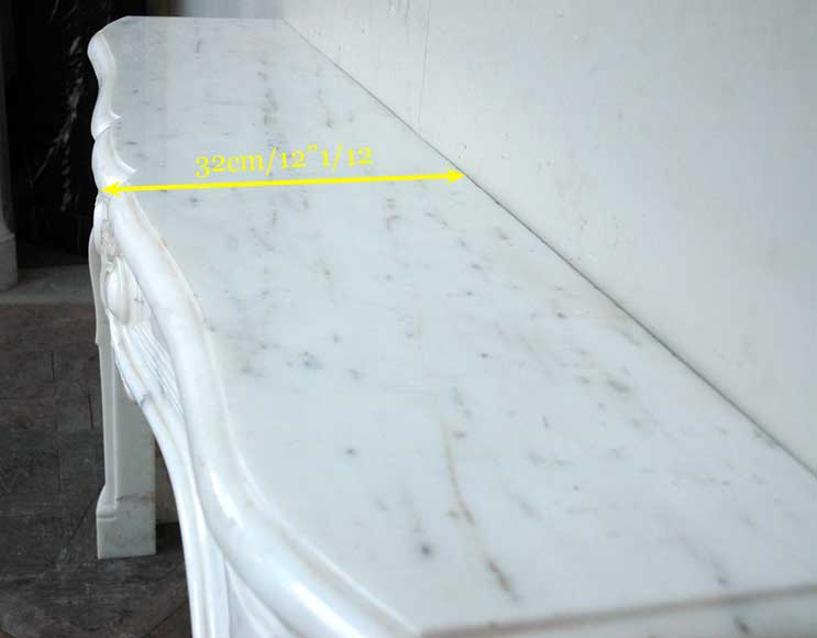Semi-statuary marble mantel made in 1960-6
