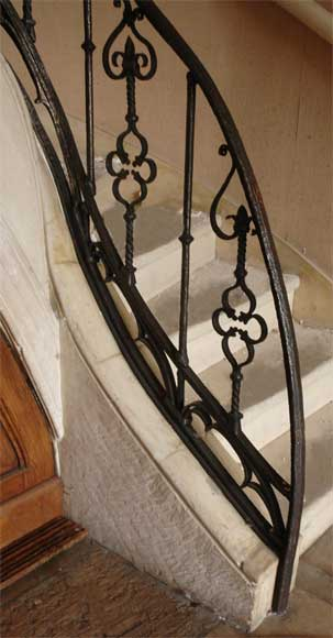 Iron Gothic Style Banister Stairs And Banisters