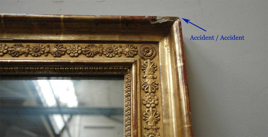 Antique neoclassical gilded mirror-2