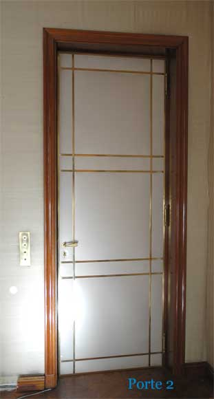 Four leather and brass doors-3