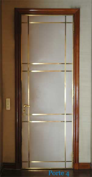 Four leather and brass doors-6