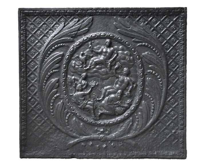 """Zeus and the Four Seasons"", antique fireback - Reference 9757"