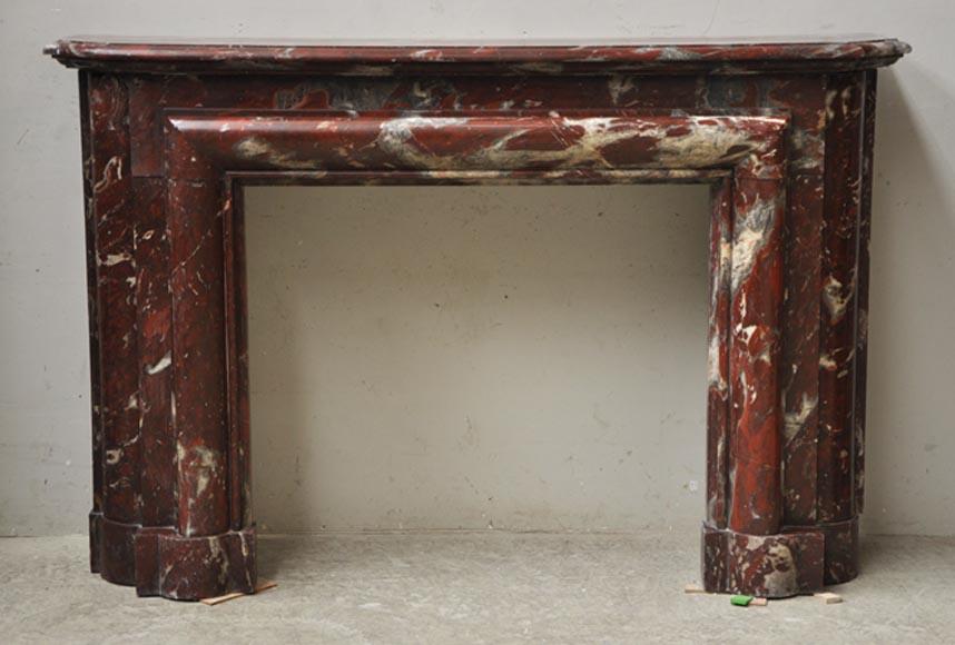 Rare art deco antique fireplace in griotte from belgium - Deco vintage belgique ...