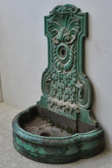 Antique Cast Iron Fountain From The 19th Century