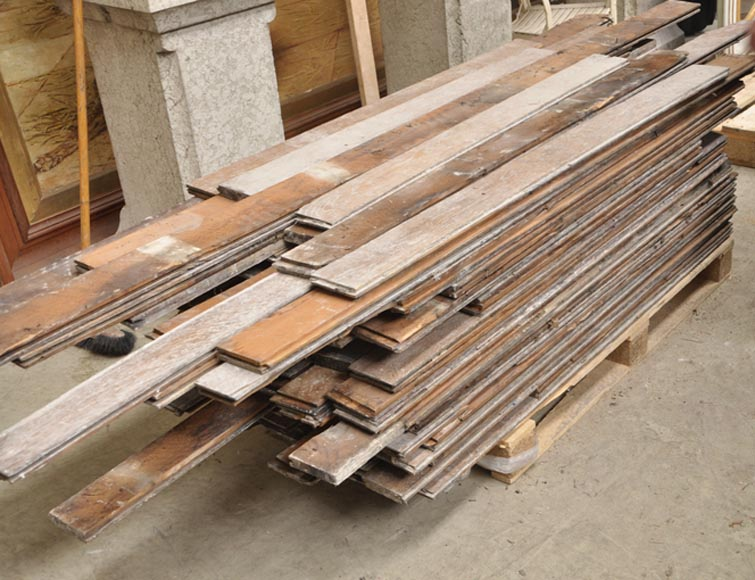 Antique oak wood flooring from the 19th century - Reference 9876